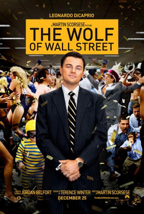 Affiche officielle du film ; Le Loup de Wall Street